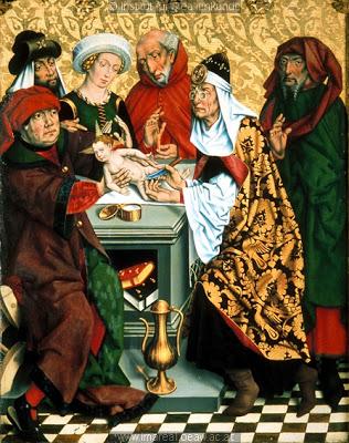 La circumcisió de Crist, taula de l'Altar del dotze apòstols (1466), de Friedrich Herlin