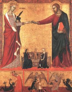 Matrimoni místic de santa Catalina de Siena, tempera sobre fusta (Museum of Fine Arts, Boston)